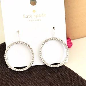 KATE SPADE Crystal Circle Hoop Earrings